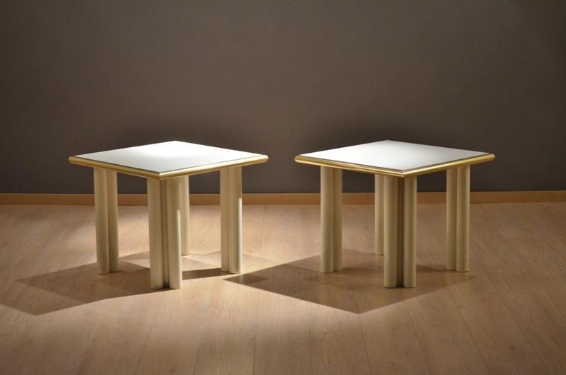 paire de table d 39 appoint basse pour salon storanza