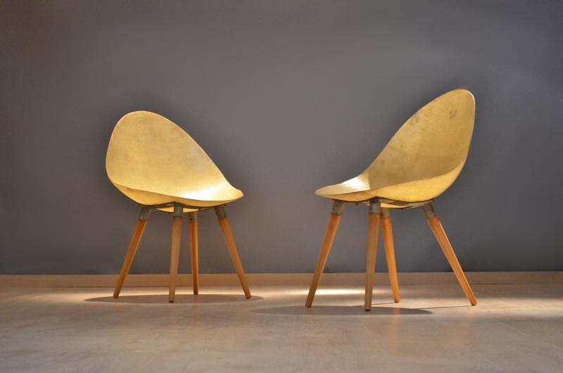 originale paire de chaise fauteuil fibre de verre. Black Bedroom Furniture Sets. Home Design Ideas